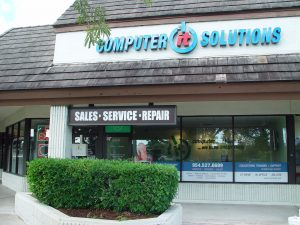 broward location with services offered in window and on door