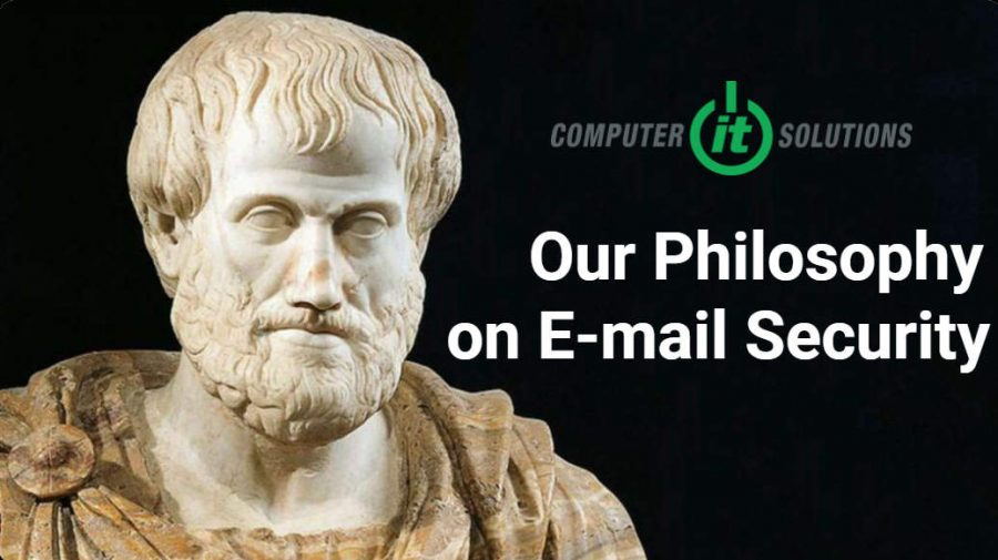picture of a philosopher representing or philosophy of mail security